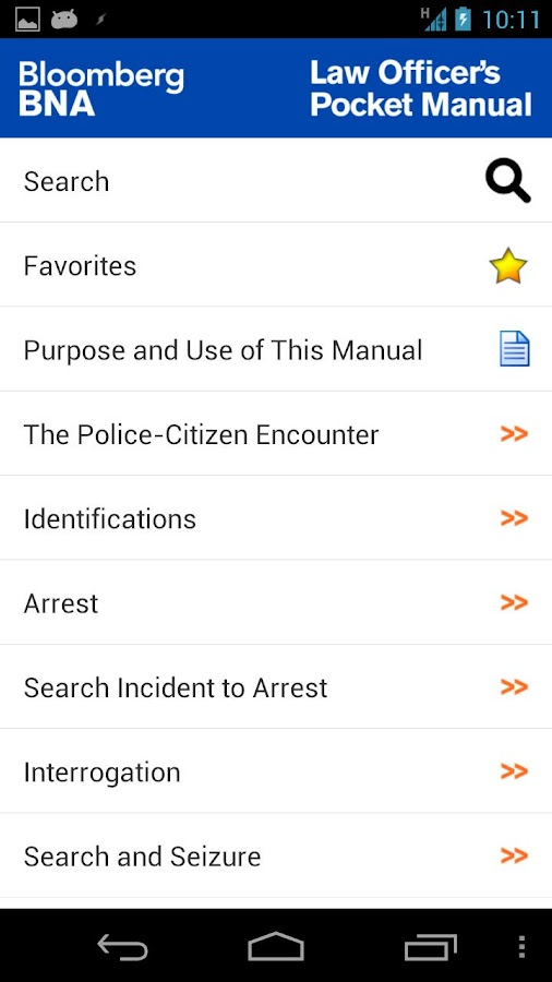 Law Officer's Pocket Manual- screenshot