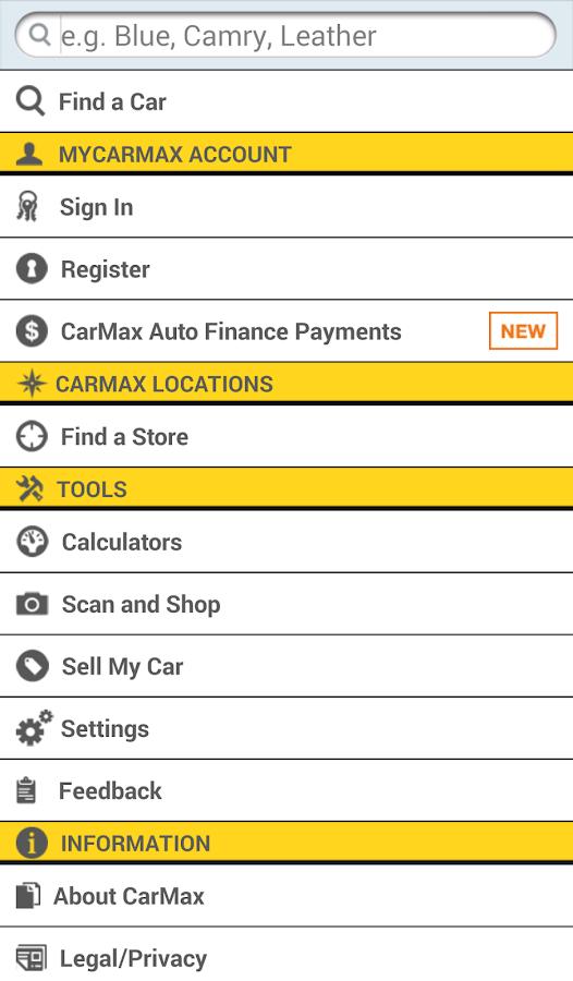 CarMax - screenshot