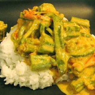 Indian Okra in Coconut Curry.