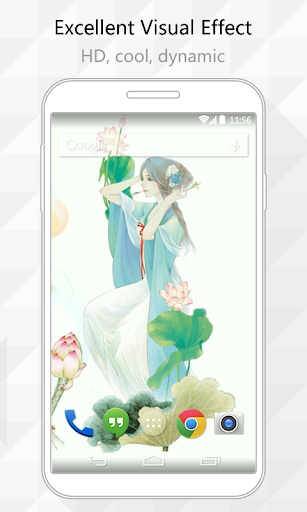 Lotus Fairy Live Wallpaper