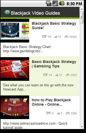 Learn Blackjack Videos - screenshot