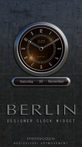 BERLIN Designer Clock Widget