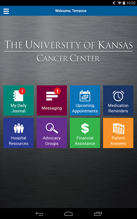 Univ. of Kansas Cancer Center- screenshot
