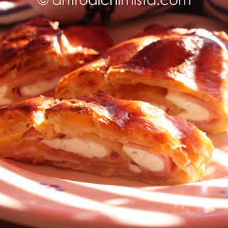 Smoked Ham and Cheese Strudel.