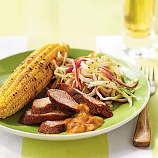 Spice-Rubbed Pork Tenderloin with Mustard Barbecue Sauce