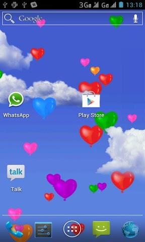 Screenshots for Heart Balloons Live Wallpaper
