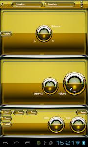 Poweramp skin Yellow Glas luxe v1.33