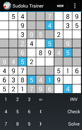 Sudoku Trainer Solver