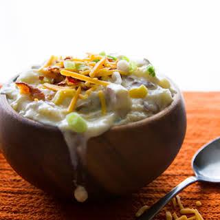 Creamy Low-fat Red Potato Soup.