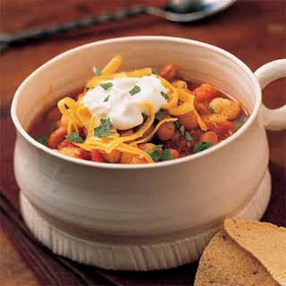 Hominy Chili with Beans.