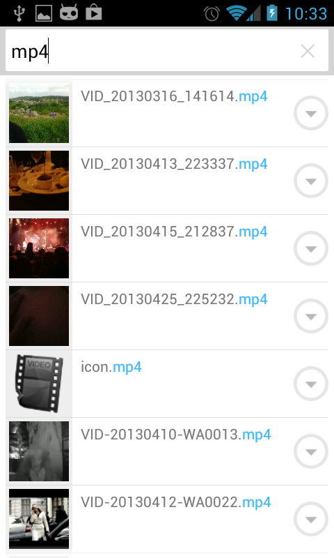 Andro Search (Files Contacts)- screenshot