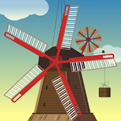 Windmill and Pond wallpaper