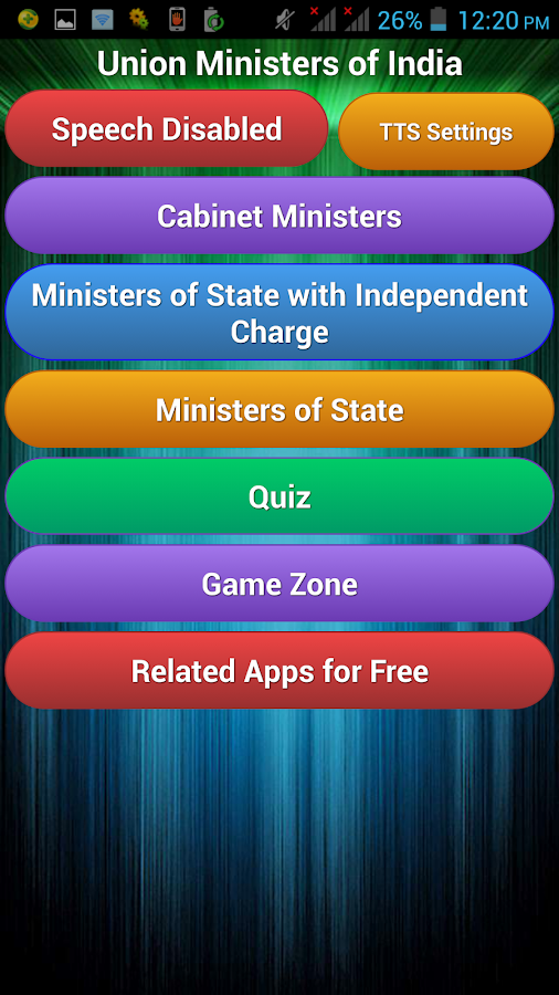 Union Ministers of India- screenshot