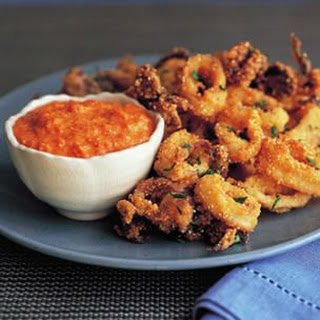Fried Calamari with Romesco.