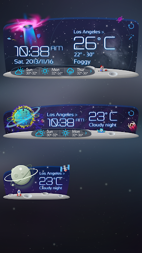 玩免費天氣APP|下載Unknown Planet Theme GOWeather app不用錢|硬是要APP