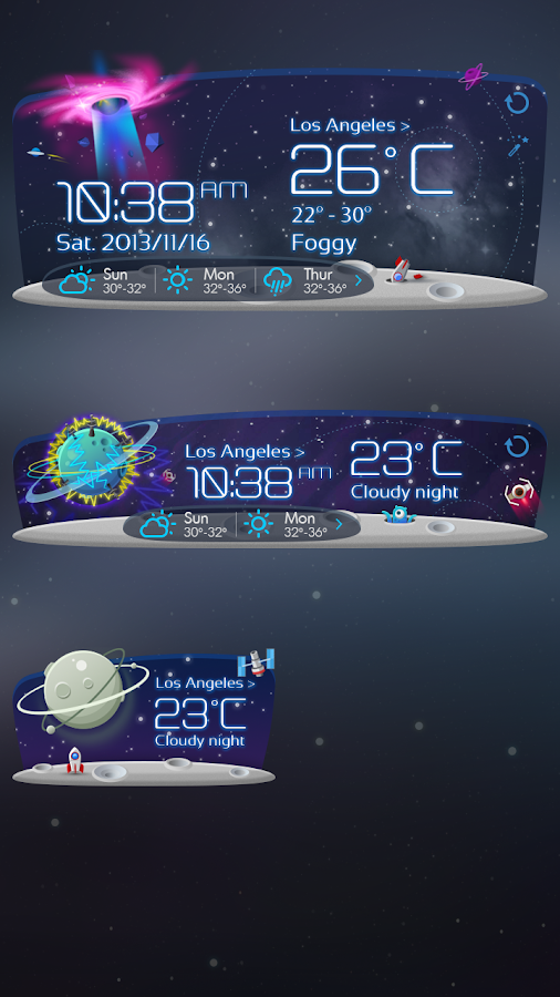 Unknown Planet Theme GOWeather - screenshot