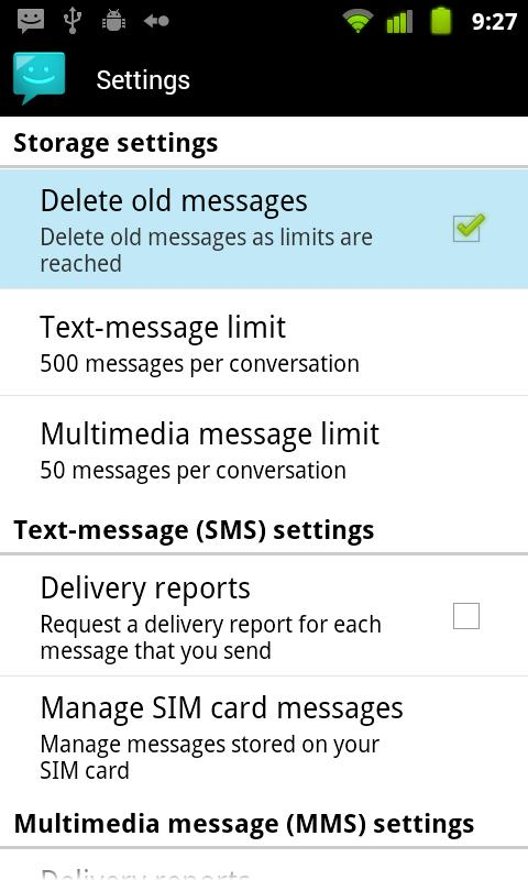 Messaging Lite G - screenshot