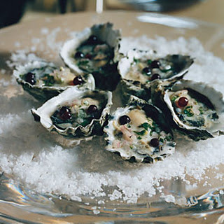 Oysters with Champagne-Vinegar Mignonette.