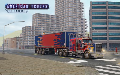 アメリカのトラック駐車場