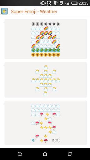 Weather Emoticon - Super Emoji