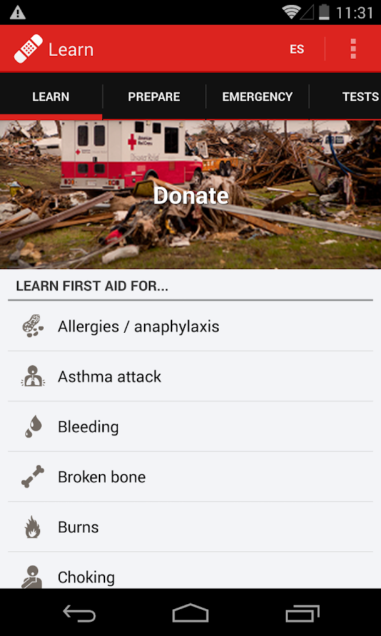 First Aid - American Red Cross- screenshot