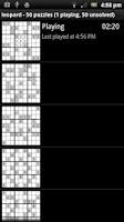 Screenshot of Sudoku game