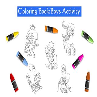 Coloring Book Boy Activity