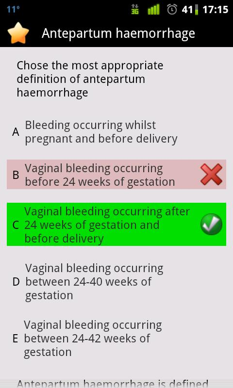Obstetrics and Gynaecology Aid - screenshot