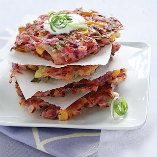 Purple Sweet Potato Latkes Recipe