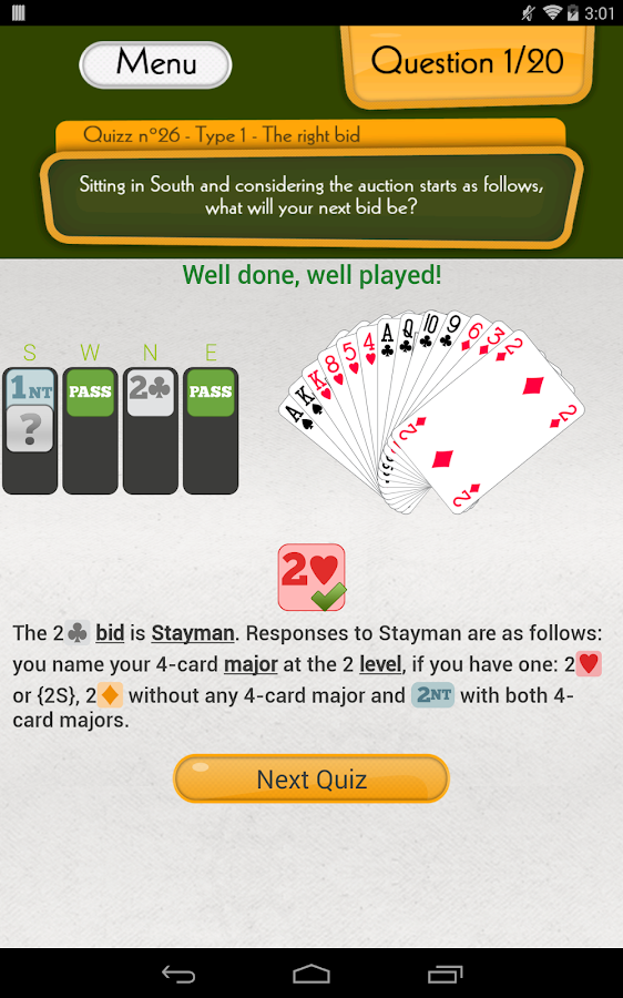 Fun Bridge Quiz - screenshot