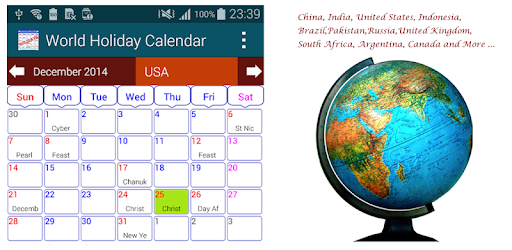 Holiday Calendar Free Apps On Google Play