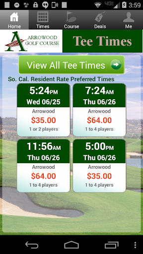 Arrowood Golf Course Tee Times