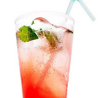 Pink Grapefruit and Basil Mojito Mocktail.