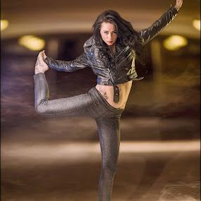 | Hard Rock Ballet | by Photo Jovan - People Portraits of Women ( hard rock, train station, girl, teen, floting, ballet, smoke,  )
