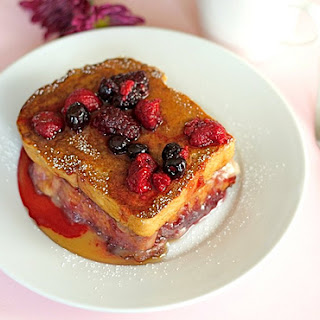 Stuffed French Toast with Brie and Berries Recipe