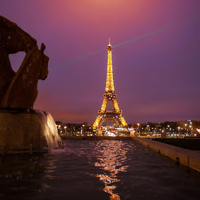 Eiffel Tower by Abdulmagid alfrgany Photograph - Abstract Light Painting