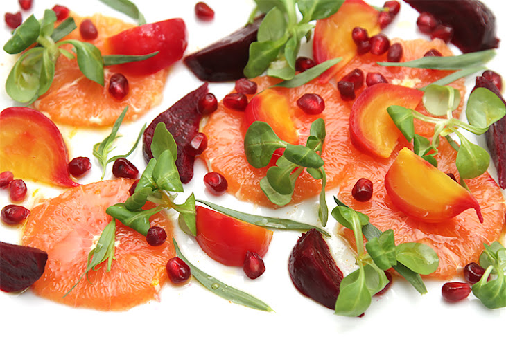 Cara Cara Orange and Beet Salad with Pomegranate Recipe