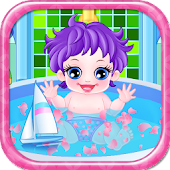 Baby bath girls games