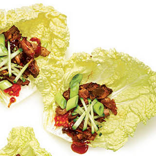 Sugar-Crusted Pork Cabbage Wraps.
