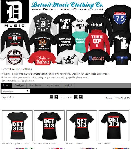 Detroit Music Clothing