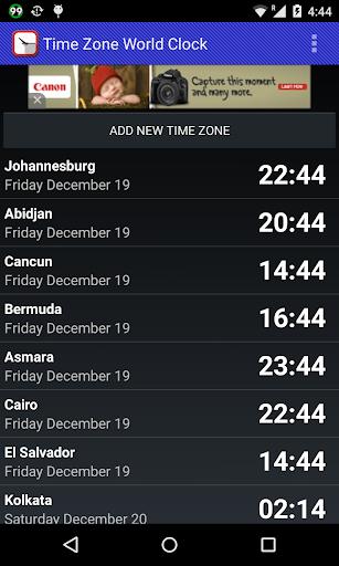 Time Zone World Clock