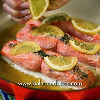 Lemon Rosemary Broiled Salmon