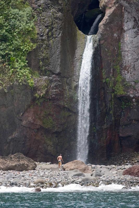 Waterfall at Kalaupapa on the Hawaiian island of Molokai.