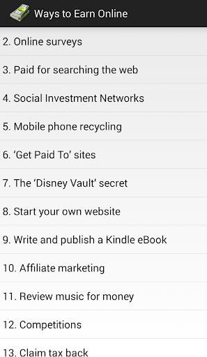 Ways to earn online
