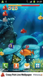 Crazy Fish Live Wallpaper - screenshot thumbnail