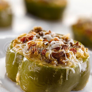 Italian Sausage Stuffed Bell Pepper Rings