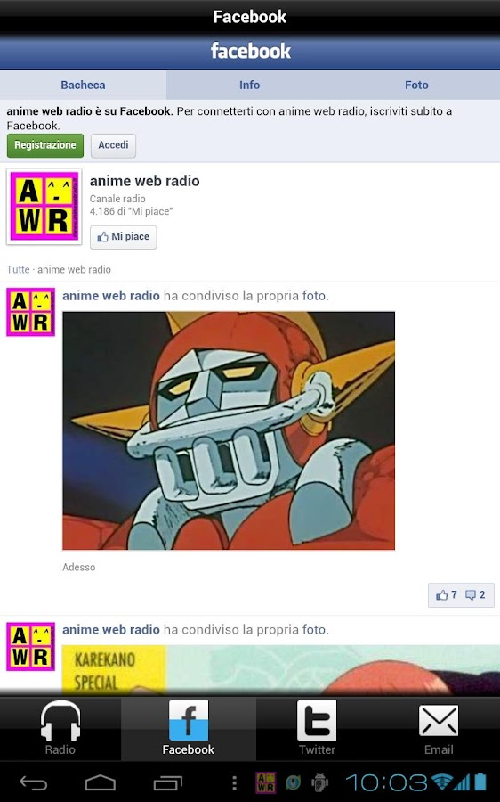 Anime Web Radio- screenshot