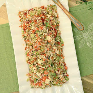 Chopped Vegetable Confetti Salad.