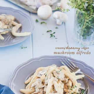 Creamy Mushroom Alfredo {vegan + Dairy Free}