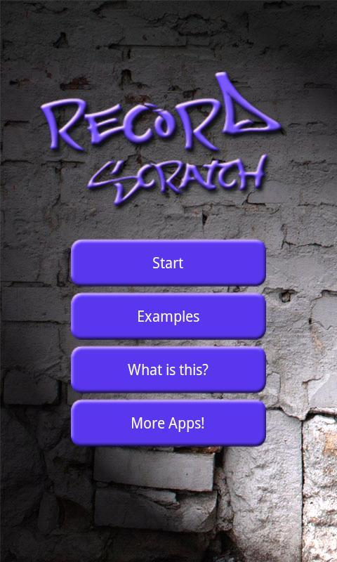 Record Scratch Simulation- screenshot
